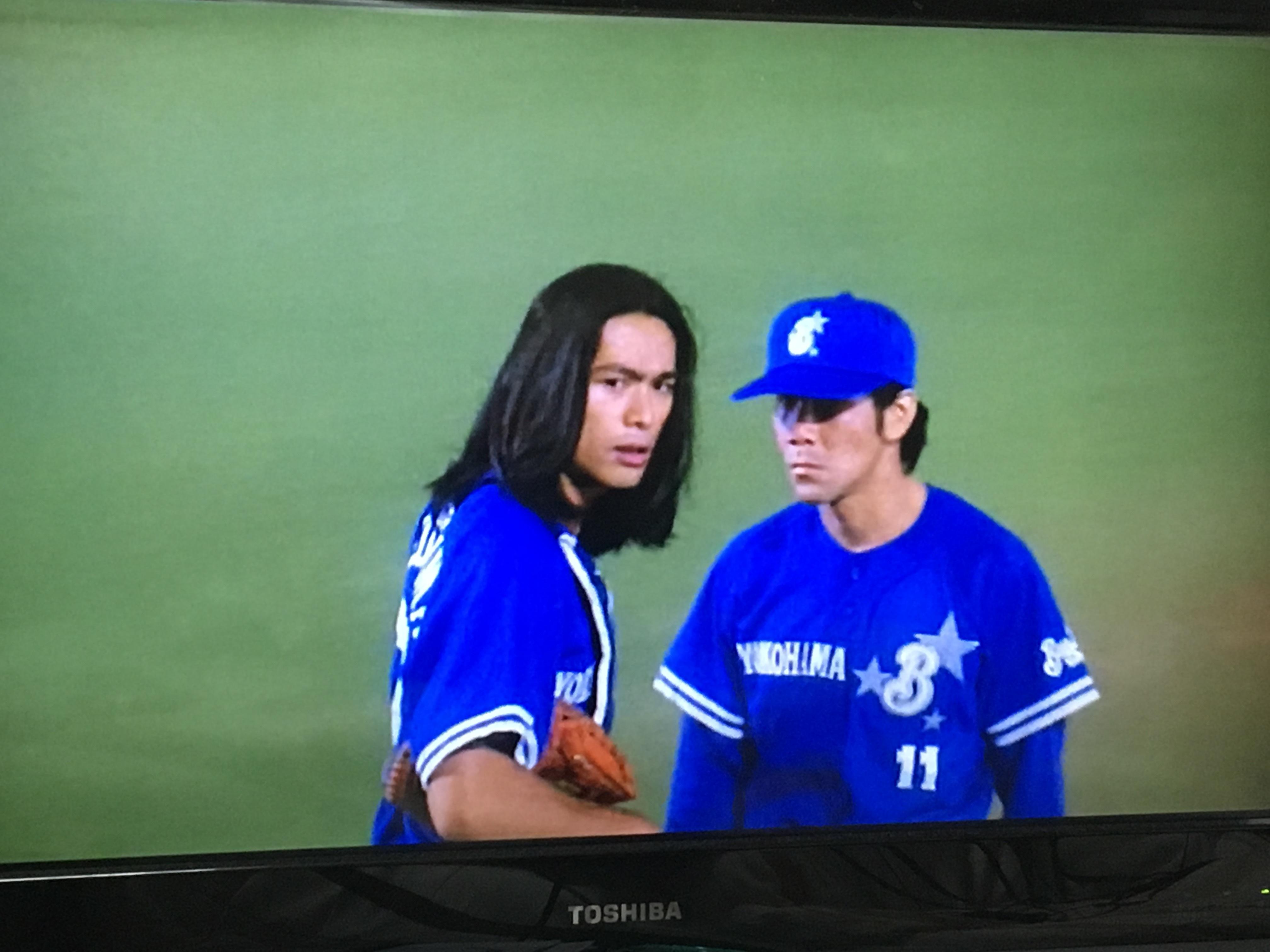 ロン毛のキャッチャー江口洋介