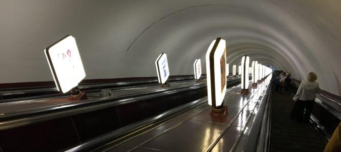 ウクライナ・キエフの地下鉄で竹内力のそっくりさん