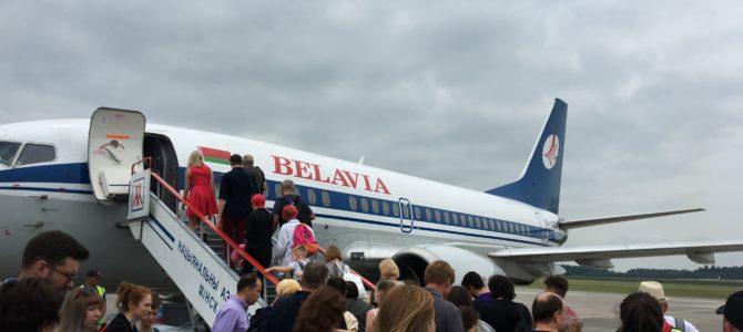 ミンスクからプラハ行きの機内で一つになった瞬間